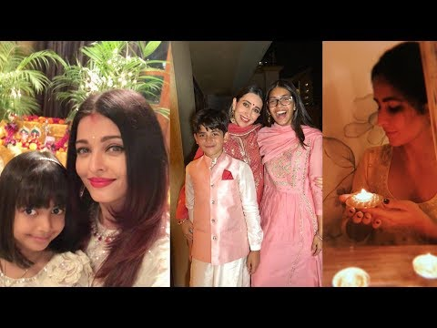 Bollywood Celebs celebtate DiWali 2018 |Aishwarya,Karisma,Katrina ,Kareena and others