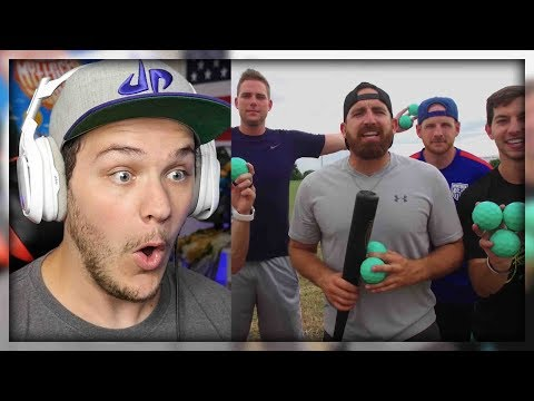 Thumbnail: Blitzball Trick Shots 3 | Dude Perfect - Reaction