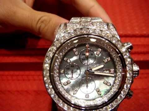 Diamond Breitling Watch Super Avenger Diamonds Full Case