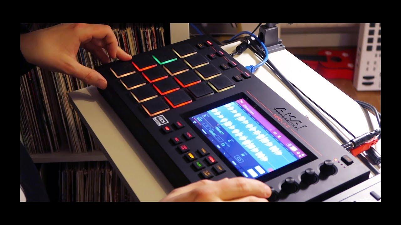 Classic hip hop jazz sample beat making video old school 90s.