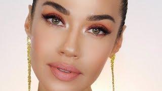 Pretty Peach Makeup for the Holidays | Eman