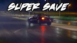 BACK WHEEL WAS OFF THE GROUND BUT HE SAVED THIS NITROUS MUSTANG!