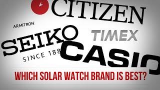 Which Solar Watch Brand is Best?