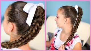 box four sided fishtail braid   wear it down or up in a bun