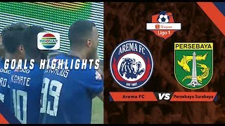 Arema Malang (4) vs (0) Persebaya Surabaya - Goal Highlight | Shopee Liga 1