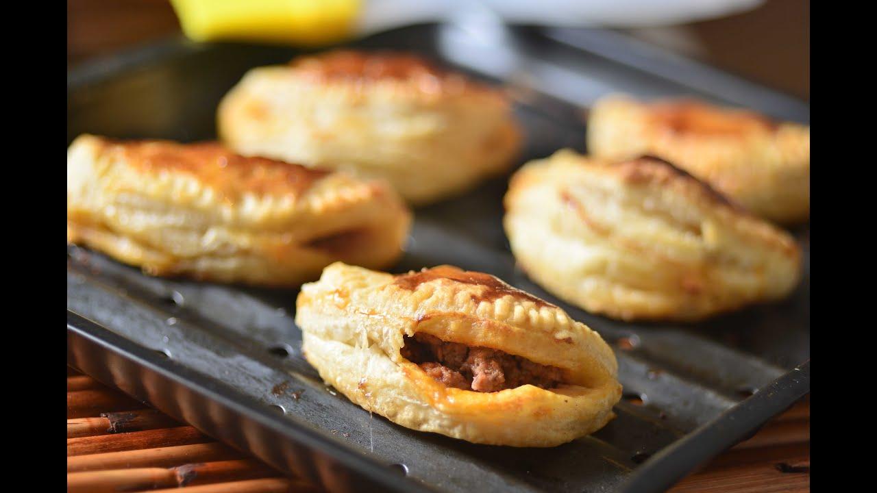 Empanadas de hojaldre rellenas de carne con queso  Receta