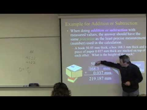 Significant Figures Video Lecture Dr. Zoval (General, Organic, and Biochemistry Course)