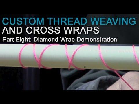 Custom Thread Weaving & Cross Wraps - Part 8: Diamond Wrap Demonstration (continued)