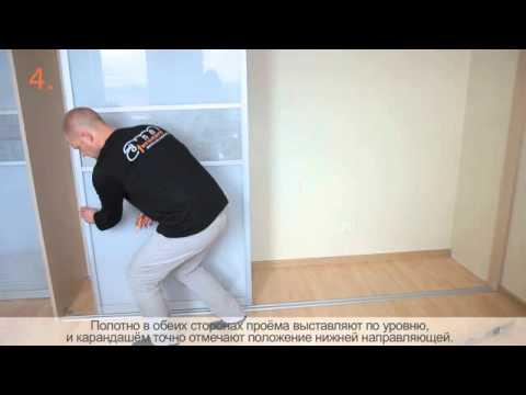 зеркальные раздвижные двери для гардеробной в новосибирске
