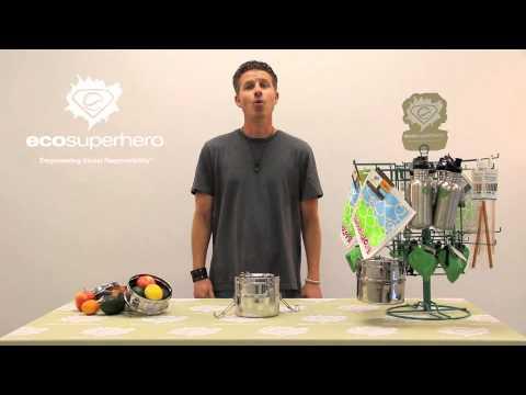 EcoSuperhero 2-Tier Food Carrier Lunch Box