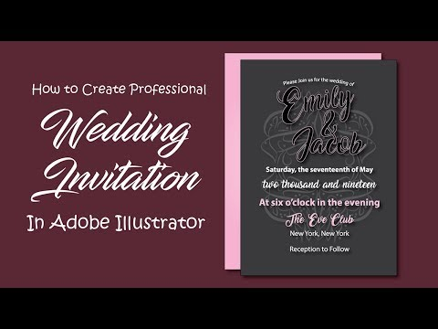 How to Design Wedding Invitations in Illustrator - Modern Invitation Card Design