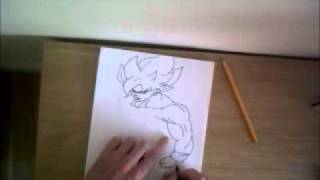 drawing goku ss1 full body