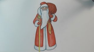 Как нарисовать Деда Мороза how to draw santa claus step by step easy | Art School