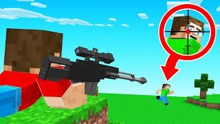 Minecraft SPEEDRUNNER But HUNTERS HAVE GUNS!