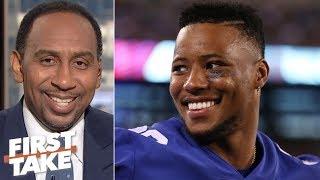 Saquon Barkley outranks Ezekiel Elliott on Stephen A.'s top 5 NFL running backs | First Take