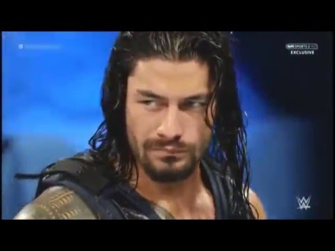 HD WWE Delhi India Roman Reigns VS Big Show, Rusev 15 January 2016