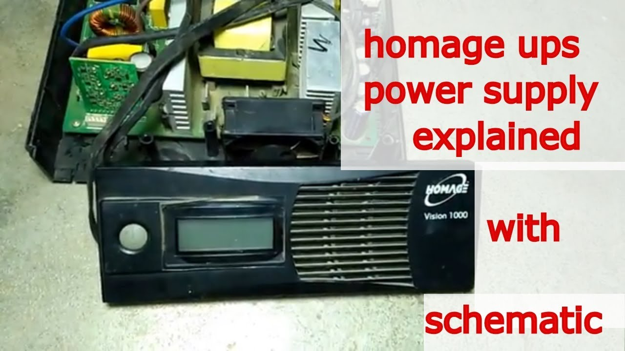 Ups Repair Part 2 Homage Power Supply With Schematic Explained Homemade Circuit Diagram In Urdu 1