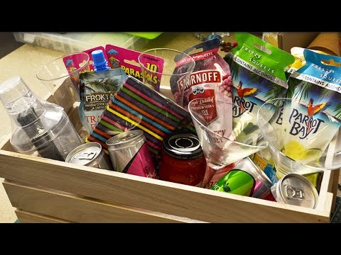 How to Shrink Wrap a Hamper | the littlecraftybugs company