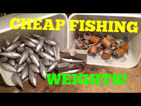 How To Make Cheap Fishing Weights! Making Leads