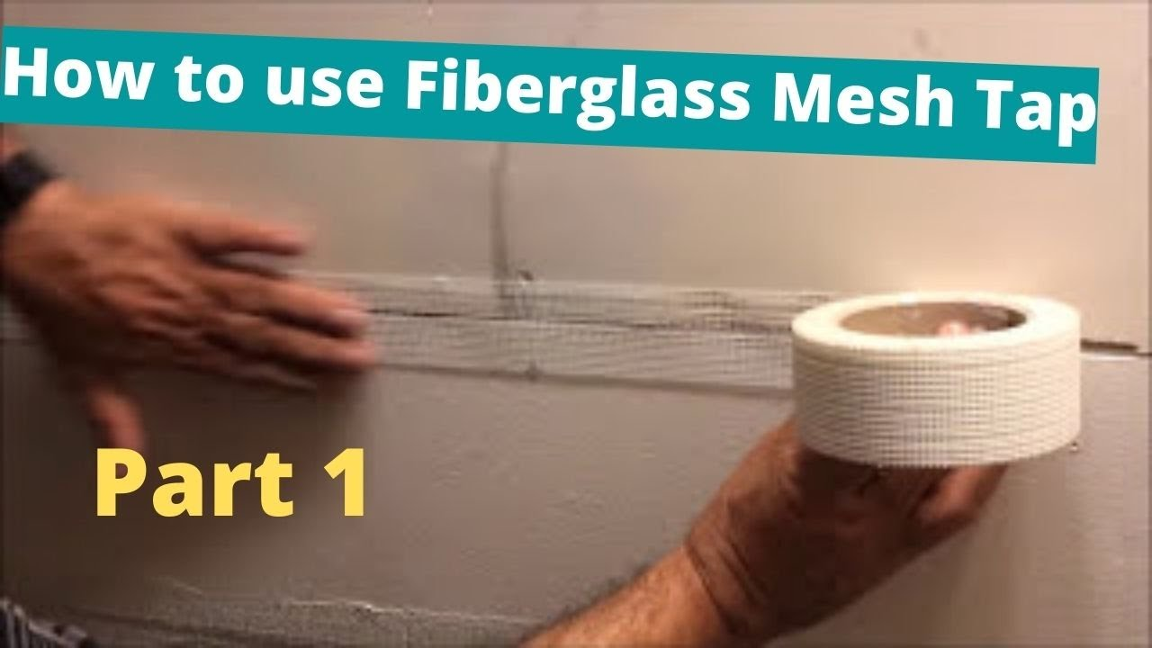 How To Use Fibergl Mesh Tap For Drywall Joints And Corners Part 1 Install Fibatape