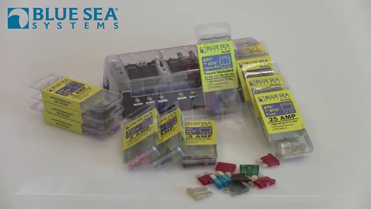 Blue Sea Systems 5032 St Blade Split Bus Fuse Block Youtube In Box