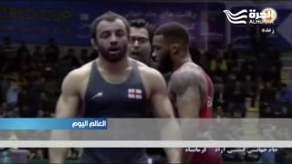الفريق الاميركي يشارك في مباريات المصارعة في ... ايران!