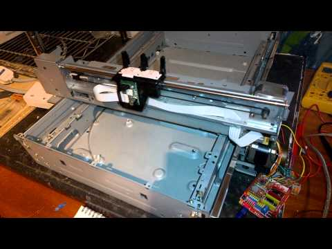 Building a CNC machine from photocopier parts