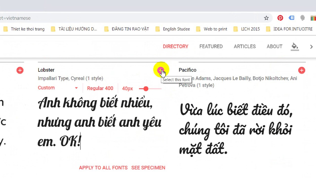 Download and install Google font