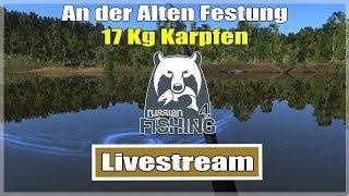 Russian Fishing 4: Karpfen 17 Kg an der Alten Festung | Livestream Deutsch