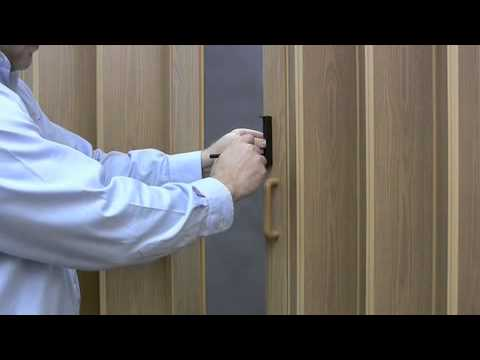 Folding Door Lock- Double Door Lock Installation - YouTube