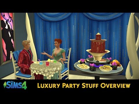 The Sims 4 Luxury Party Stuff Overview