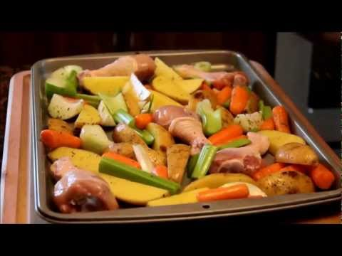 How To Cook Roasted Chicken Legs And Vegetables