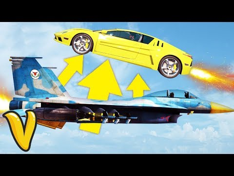 JUST CAUSE 3 CAR JUMP OVER A FLYING PLANE STUNT! Just Cause 3 Stunts!