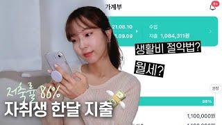서울 자취생은 한달에 얼마를 쓸까? (가계부 결산, 생…