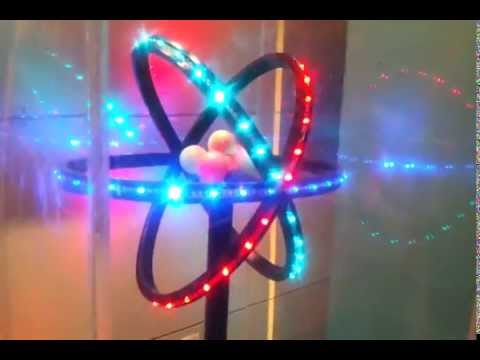 3d atom model glowing with led youtube 3d atom model glowing with led ccuart Gallery