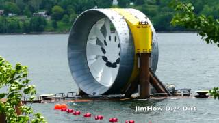 Launching a GIANT TURBINE~Bay of Fundy Tidal Power