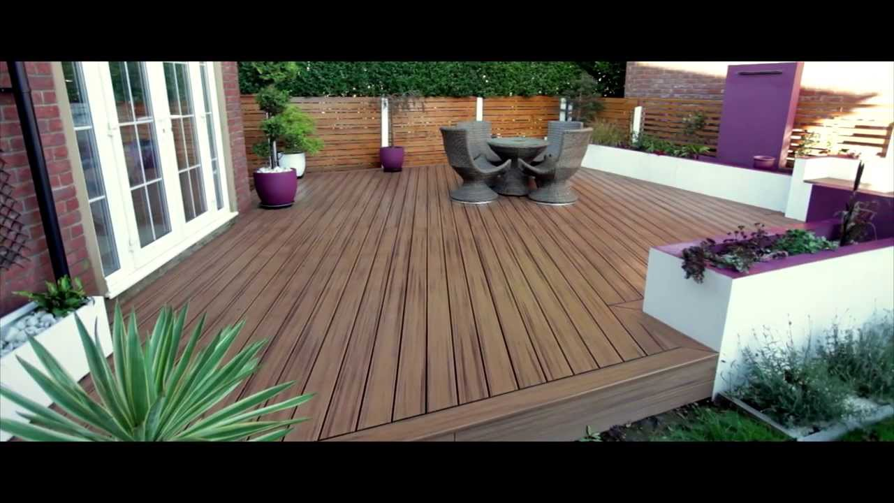 Trex Decking Colors >> Arbordeck: Trex Transcend Composite Decking - Tiki Torch - YouTube
