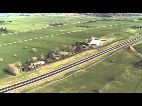 Tauranga Eastern Link (TEL) aerial flyover 2015