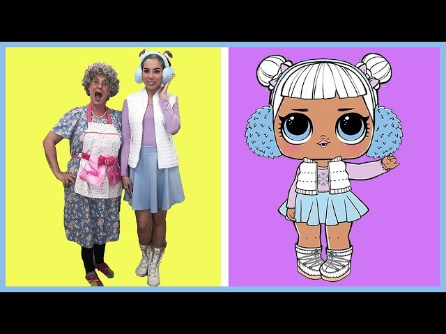 LOL Surprise Doll In Real Life Snow Angel! Make Up and Dress Up Play with Princess ToysReview