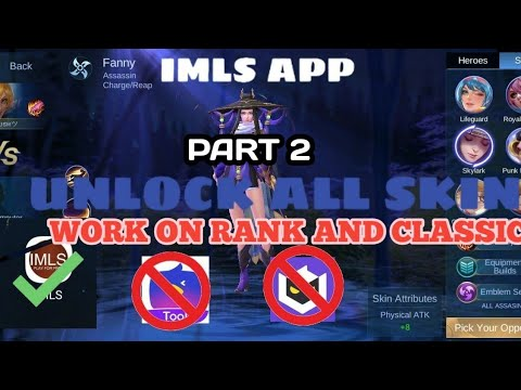 HOW TO USE UNLOCK ALL SKIN APP ON RANK GAME | IMLS TUTORIAL thumbnail