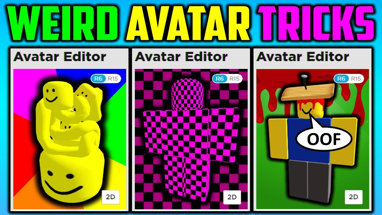 Weird Roblox Avatar Tricks Youtube