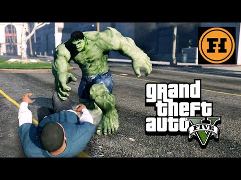 Mod Gameplay Hulk Challenge In Gta