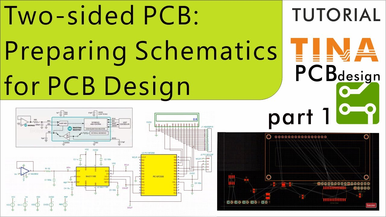 Creating Two Sided Pcb In Tina Part 1 Preparing Schematics For Pcb Design Youtube