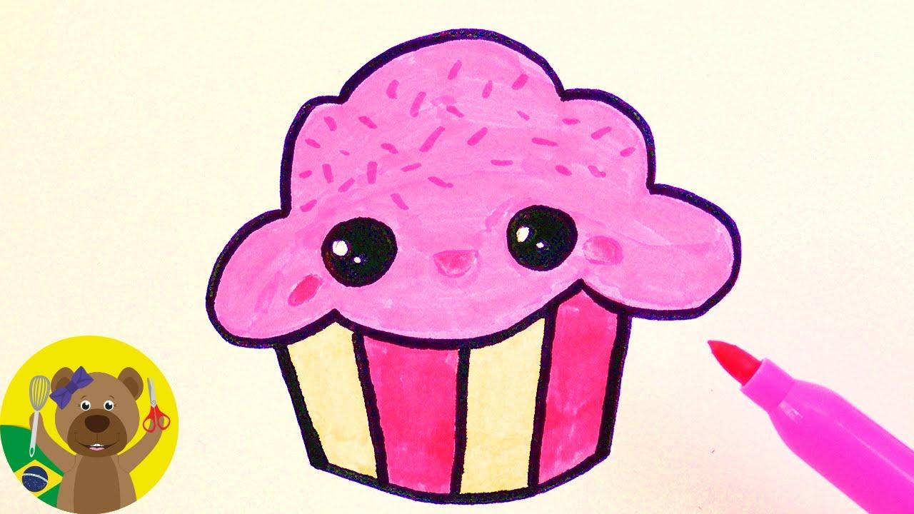 como desenhar um cupcake super fofo youtube