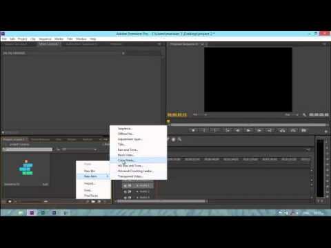 adobe premiere pro cs6 create color matte - YouTube