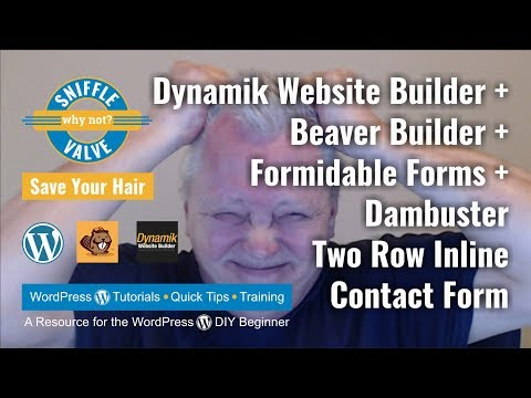 DWB + Beaver Builder + Formidable Forms + Dambuster - Two Row Inline Contact Form