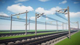 Minecraft Railway Overhead Catenary Line Tutorial