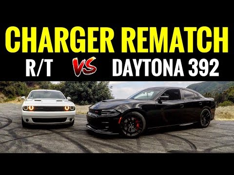 Dodge Charger DAYTONA 392 vs Challenger RT | STREET RACE & BURNOUTS!