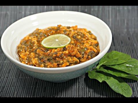 Vegan Egyptian Spinach recipe (English)...  (طريقة عمل سبانخ مصرية نباتية صيامي (إنجليزي