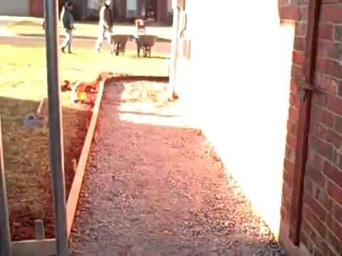 forms for patio sidewalk youtube. Black Bedroom Furniture Sets. Home Design Ideas